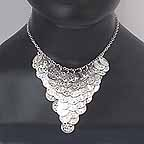 Silver Coin Necklace ref A ng